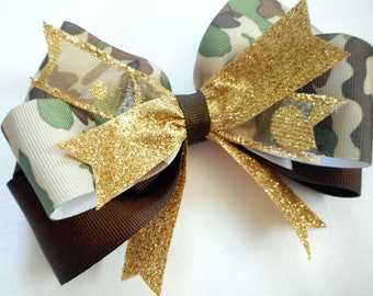 Military Princess Boutique Camouflage Hairbow  Camo Girl toddler wholesale bows