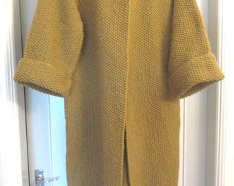 Beautiful Hand Knitted wondefully warm coat - Fall - Winter - Spring - All colors available