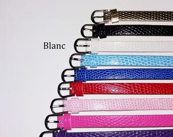 1 x 22cm - White leather bracelet