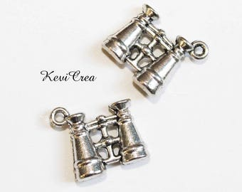 4 x 3D Silver Twin charms