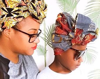 African Print head wrap | Turban Wax | Wax print Head wrap | Ankara Print headscarf | Wax Print Fabric | African Headband | Print Hair Scarf