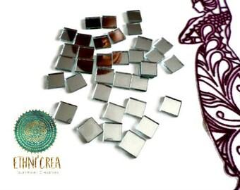 10 mosaic square small mirrors 10 x 10 mm