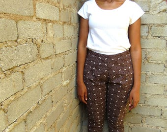 Tswana Cigarette Pants- Brown