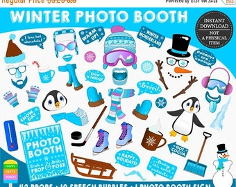 SALE PRINTABLE Winter Photo Booth Props–Winter Photo Props-Winter Wonderland Photo Booth-Holiday Props-Baby Its Cold Outside-Instant Downloa