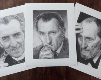 Set of 3 Peter Cushing Limited Edtion Art Prints - Special Offer!!!