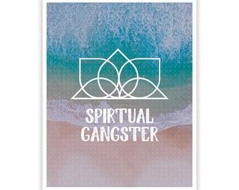 Spiritual Gangster Poster / Geometric Design / 8 x 10 /  Lustre Finish Kodak Print