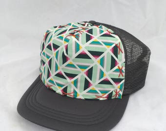 Geometric Splendor on Medium Adult Trucker hat