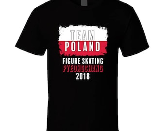 Team Poland Figure Skating Pyeongchang 2018 Olympic T Shirt