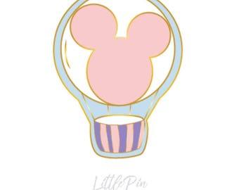 Mickey, Hot Air Balloon, Enamel Pin