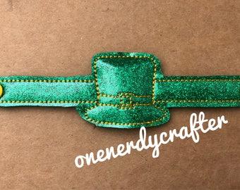 Flashing St Patricks Day Lepruchan Bracelet