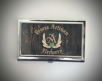 Custom Business Card Case. Your business logo, business card holder, business card, logo business card, metal business card case