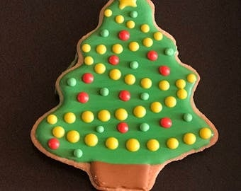 12 SANTAs belly inspired vanilla sugar cookies - CHRISTMAS - TREE- glove - candy cane -  cookies - pastry cookies - gift - apreciation -