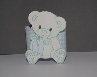 Square blue bear brand and Towel holder
