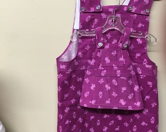 Pink overall jumper