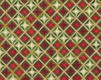 "Winter's Grandeur 4 ""Holiday"" Red & Cream-Robert Kaufman-BTY"