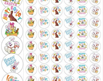 "Assorted Easter Envelope Seals - 1.2"" Fun Easter Stickers - 144 Stickers - 25169"