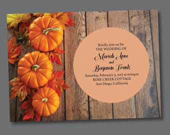 Save the Date - Fall Pumpkins