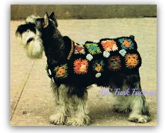 Dog Coat Crochet Pattern Granny Squares Crochet Dog Coat Pattern Instant Download on BC Funk Factory