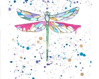 Legend of the Dragonfly. Print. Artwork. Wallart.