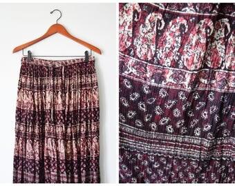 70s Indian gauze maxi skirt | Fits many