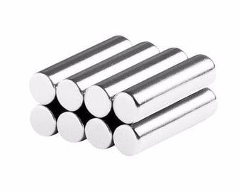 1/4 x 1 inch (6.35 x 25.4 mm) Neodymium Rare Earth Cylinder/Rod Magnets N48 (8 Pack)
