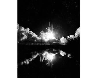 Black and White Vintage Rocket Art Prints, Black and White Rocket Art Prints, Rocket Photography, Vintage Rocket Prints
