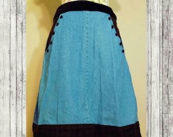 Handmade Jean Skirt Size S