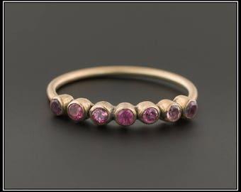 Antique 10k Gold & Garnet Ring | Stacking Ring | Garnet Stacking Ring | Minimalist Ring | Antique Ring | 10k Gold Ring