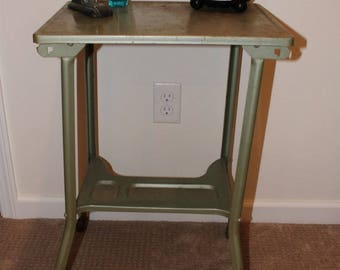 Vintage Metal Typing / Typewriter Table / Desk / Stand