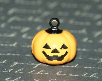 Bell / Bell metal pumpkin painted 19x19mm