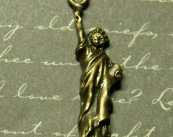 Bronze Statue of liberty charm 35x10mm