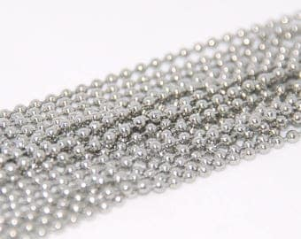Steel ball chain stainless 2mm - 1 m