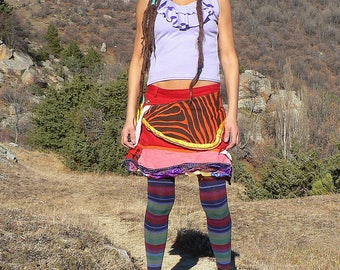 colorful patchwork skirt