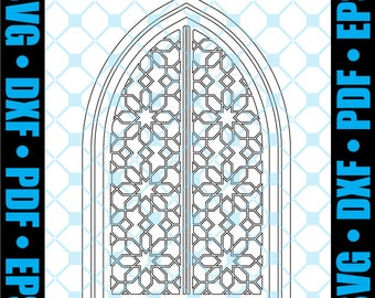Gothic Ornate Church Door Bundle - SVG • DXF - Cut files for Scrapbooking/Stencils/Art Journaling