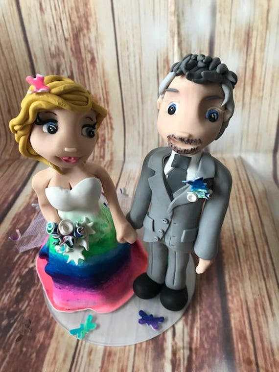 Wedding cake Topper  dress Wedding Fully Personalised a lovely keepsake - Bride and Groom/Same Sex/Wedding couple