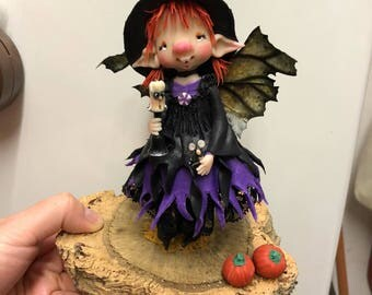 Leprechaun Witch-elves-goblins-Ooak doll-Doll