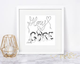 Lorde - Glory and Gore Lyrics Print, Wall Art - Lyrical Prints, Original Print Design