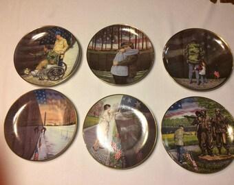 Franklin Mint -  Vietnam Veterans Memorial Collectors Plates