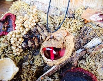 Acorn pendant necklace