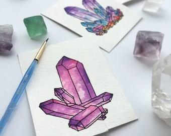 Crystal Painting, Rose Quartz Art, Crystal Artwork, Crystal Art, Rainbow Crystal, Healing Crystals, Quartz Crystal, Hippie Art, Boho