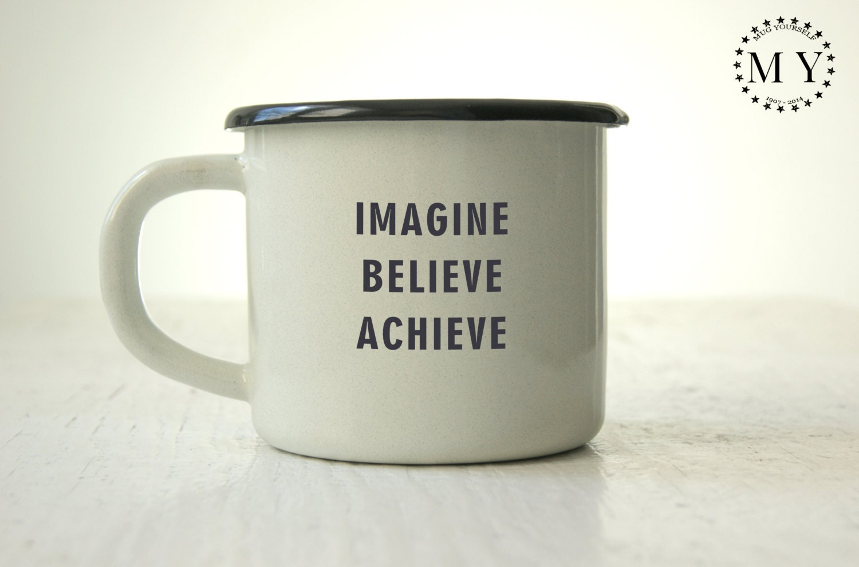 Inspirational Enamel Mug