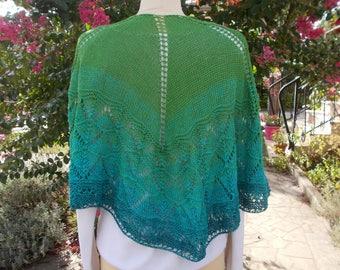 Openwork shawl
