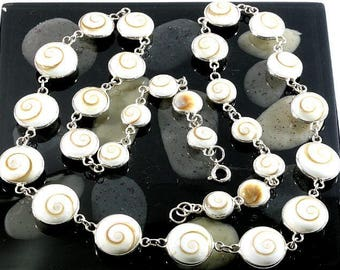 925 sterling silver and Shiva eyes, necklace  --  1416