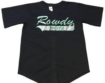 "Vintage ""Rowdy Boyz"" Baseball Jersey"