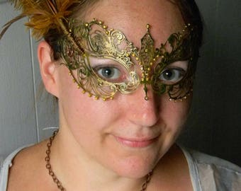 Golden Feathered Mask