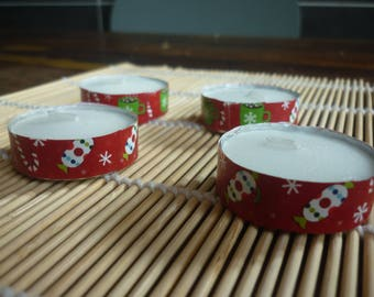 Candle warmers flat theme Christmas sold in sets of 4.