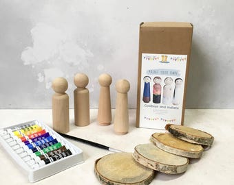 Paint Your Own - Cowboys and Indians Kit
