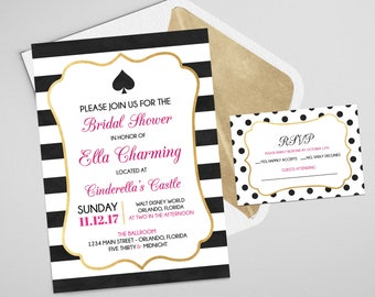 Kate Spade Party Invitation   Wedding Invitation   Bridal Shower Invitation