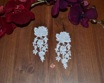2 white model1 guipure lace applique pattern