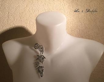 Wedding silver descent sequin Flower necklace